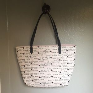 Off white Betsey Johnson tote